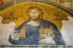 Византийская мозаика Христоса Pantocrator Стоковые Фото