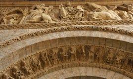 Pantocrator av den romanska kyrkan av Santiago, Royaltyfri Foto