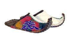 Pantoffels van Kazachstan Stock Foto's