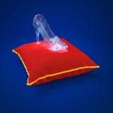 Pantofola dell'a cristallo di Cenerentola Fotografia Stock