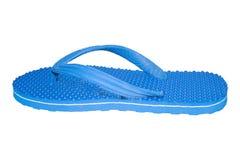 pantofola tagliata isolata su colore bianco del blu del fondo Fotografia Stock
