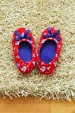 Pantofole del bambino Fotografie Stock Libere da Diritti