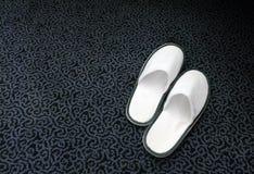 Pantofole della stazione termale Fotografia Stock Libera da Diritti