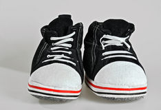 Pantofole di casa divertente Fotografia Stock