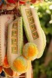 Pantofole di lana greche immagini stock