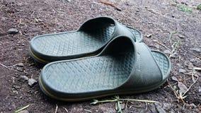 Pantofole grige Fotografie Stock Libere da Diritti