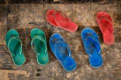 Pantofole R G B colore Fotografia Stock