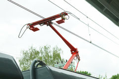 Pantograph electric Stock Photos