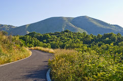 Pantokrator góra na Corfu wyspie, Grecja Obrazy Royalty Free