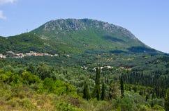 Pantokrator mountain on Corfu island, Greece Royalty Free Stock Photography