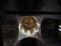 Pantokrator symbol - Kesariani kloster royaltyfri foto