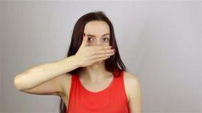 Pantomim - ändring av lynnet lager videofilmer