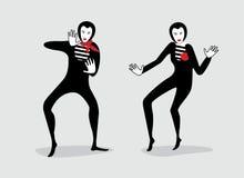 pantomim vektor illustrationer