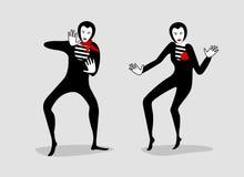 Pantomima ilustración del vector