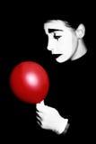 Pantomima. Ejecutante triste del mime Imagenes de archivo