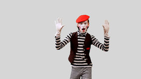 Pantomime Dances. Boy Mime dancing funny dance. This clip is pre-matted with an embedded alpha-channel. It can be composited over any background