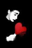 Pantomime de coeur cassé Photographie stock libre de droits