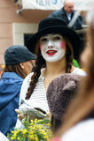 Pantomime de femme Photographie stock libre de droits