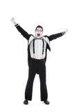 Pantomime heureux Images stock