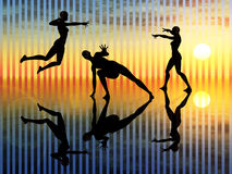 Pantomime, langage du corps illustration stock