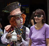 Pantomime-Las Ramblas, Barcelona Lizenzfreie Stockfotos