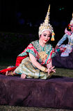 The pantomime  Ramayana at the outdoor theater. Stock Images