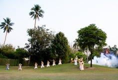 The pantomime  Ramayana at the outdoor theater. Stock Photos