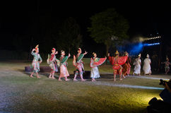 The pantomime  Ramayana at the outdoor theater. Stock Photo
