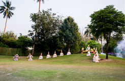The pantomime  Ramayana at the outdoor theater. Stock Photography