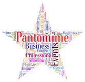 Pantomime Star Represents Stage Theaters And Dramas Royalty Free Stock Image