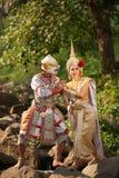 Pantomimeleistungen in Thailand Stockfotos