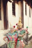 Pantomimeleistungen in Thailand Stockfotografie