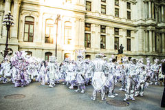 Pantomimenspieler-Parade 2015 lizenzfreies stockfoto