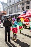Pantomimenspieler-Parade 2015 lizenzfreie stockbilder