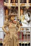 Pantomimes et statues vivantes Image stock