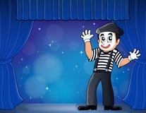 Pantomimethemabild 3 Stockbild