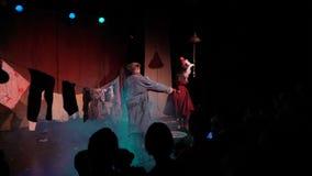 Pantomimo teatrale del pagliaccio archivi video