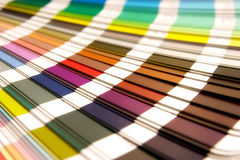 Pantone. Open Pantone sample colors catalogue royalty free stock images