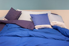 Pantone bed sheets on display at HOMI, home international show in Milan, Italy Royalty Free Stock Image