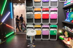 Pantone chairs on display at HOMI, home international show in Milan, Italy Stock Images
