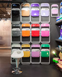 Pantone chairs on display at HOMI, home international show in Milan, Italy Stock Photo