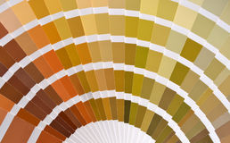 Pantone color catalog Stock Image