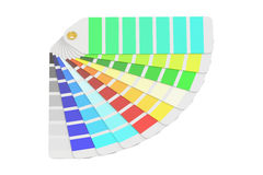 Pantone color palette guide, 3D rendering Stock Image