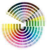 Pantone Color Palette - Semicircle Stock Image