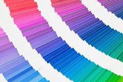 Pantone color sampler catalogue Stock Image
