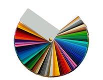 Pantone färgar tar prov isolerat Arkivbilder