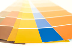 Pantone Palettes. For interior and web design reference Royalty Free Stock Photography