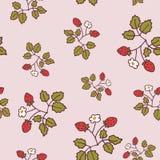 Pantone van het wilde aardbei lichte patroon Stock Afbeeldingen