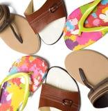 Pantoufles d'été Photo stock