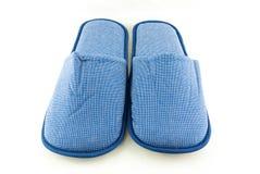 Pantoufles de bleu de ménage Photographie stock